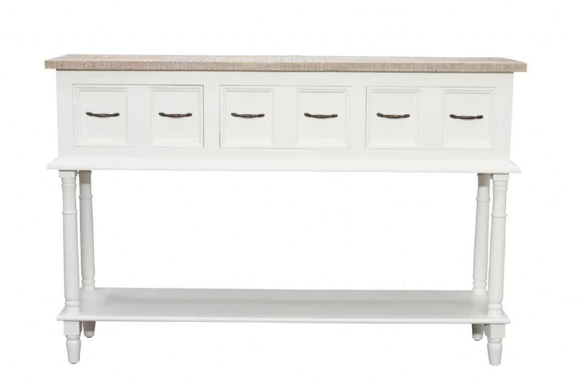 Fowey High Console Table - White